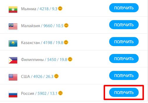 Получить на sms-man.ru виртуальный номера Telegram