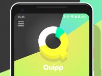 Регистрация в приложении Quipp без номера телефона