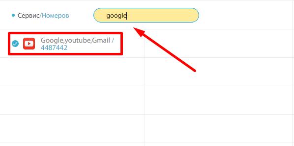 Найти виртуальный номер для Google