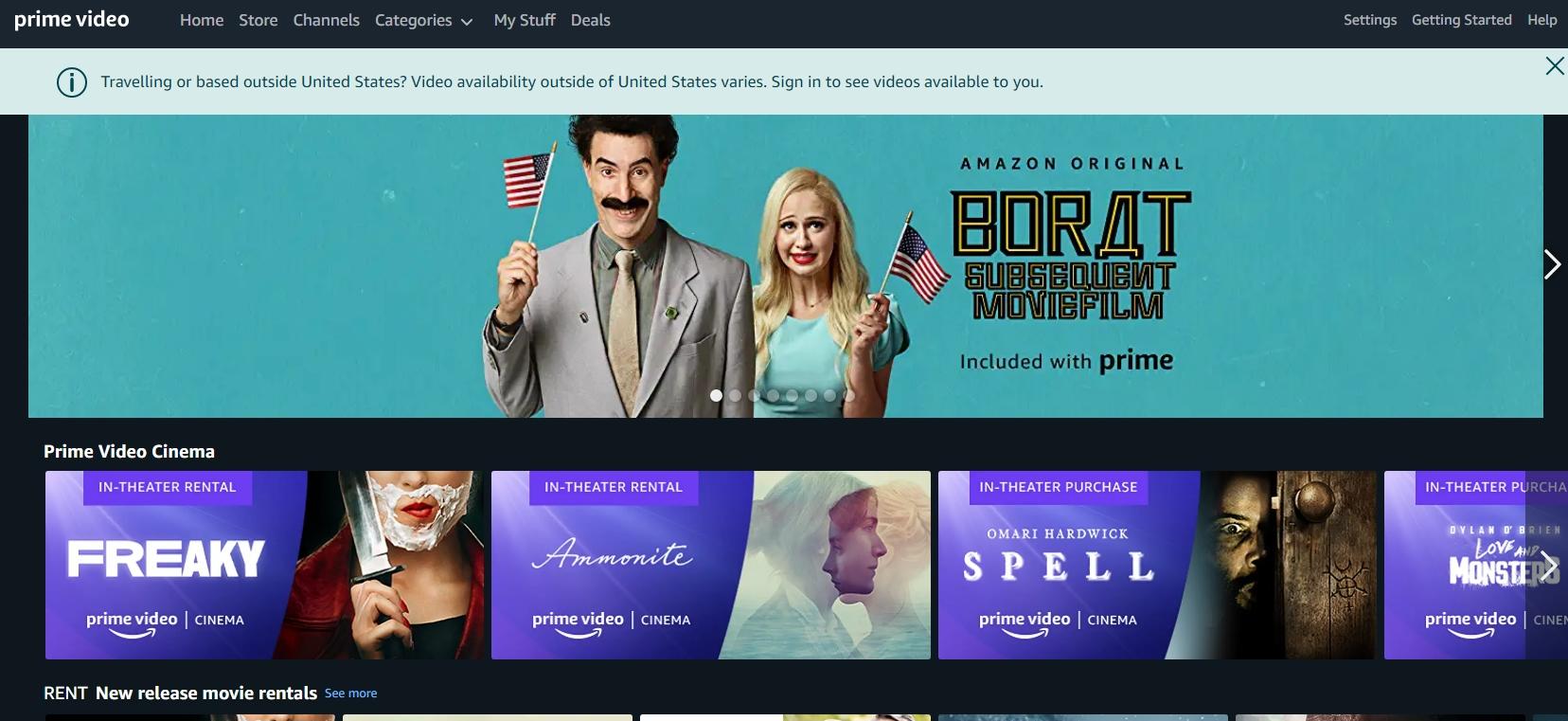Регистрация в Amazon Prime Video и бесплатная подписка на месяц