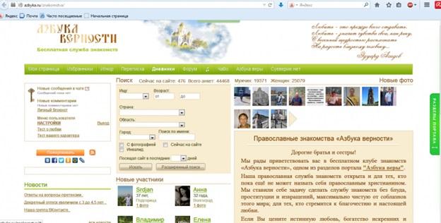 Лучший сайт православных знакомств Азбука Верности