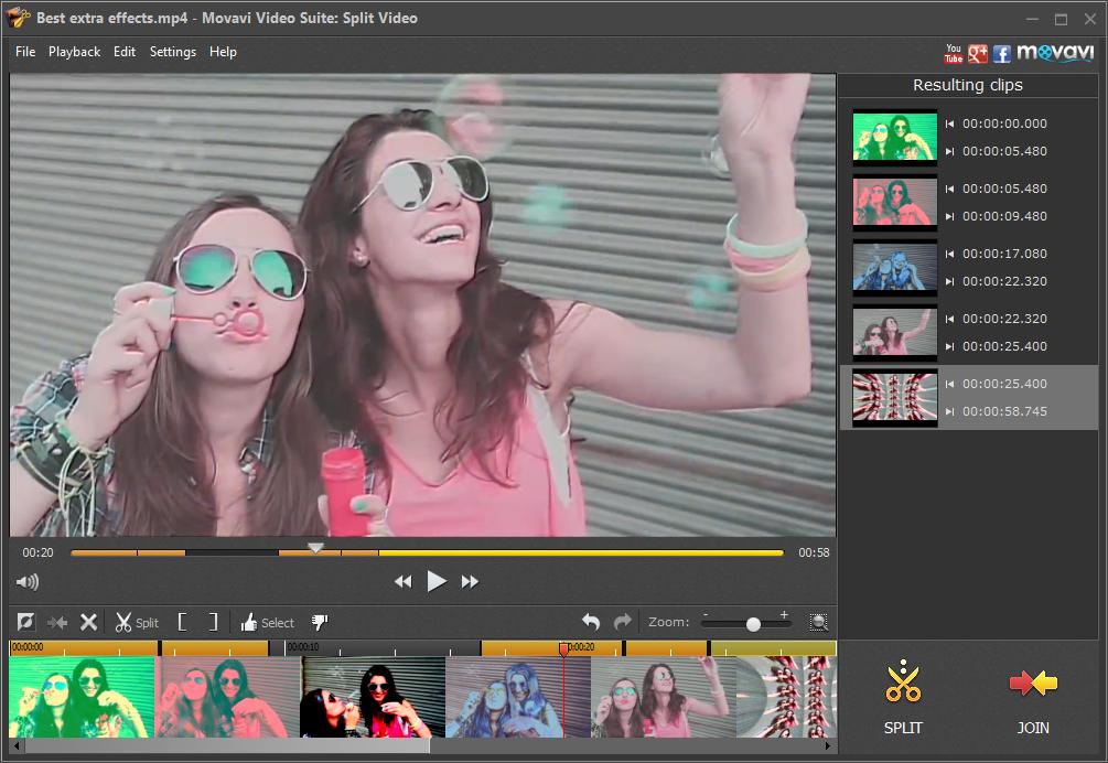 Split Video сделает разбивку большого видео на ролики небольшой длительностью