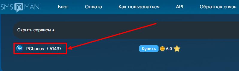 PGbonus ru личный кабинет на виртуальный номер
