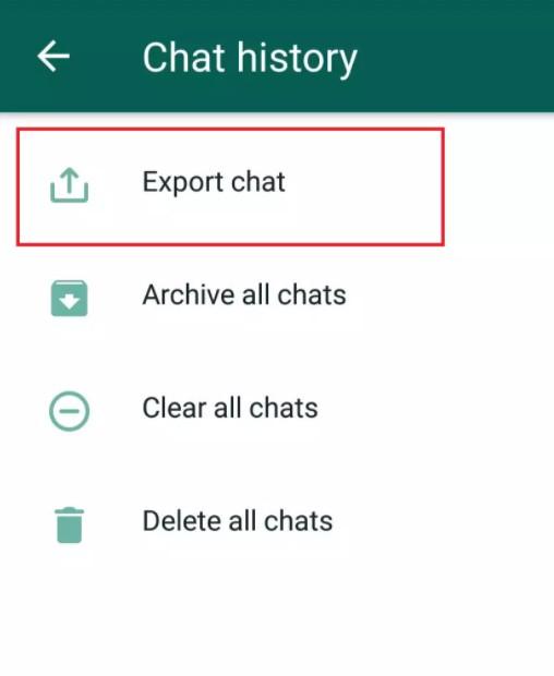 Экспорт чата ватсап