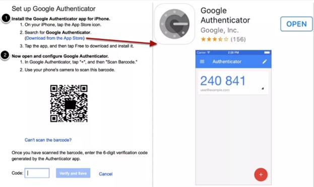 восстановить Google authenticator